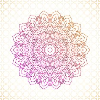 Mandala vecteur graphique islamique ornemental