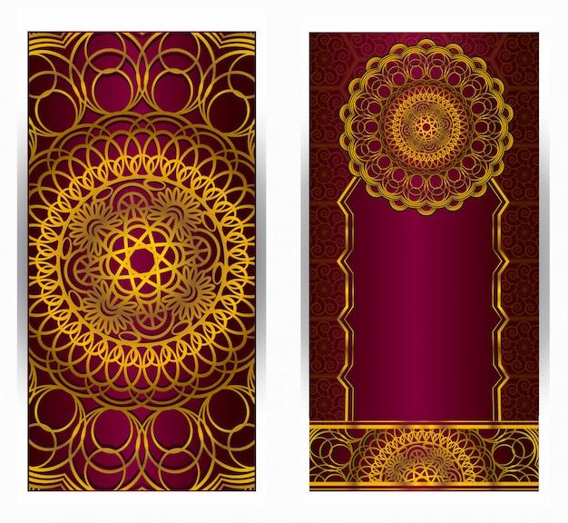 Mandala vecteur vintage dessinés à la main très détaillée arrière-plans mandala rond