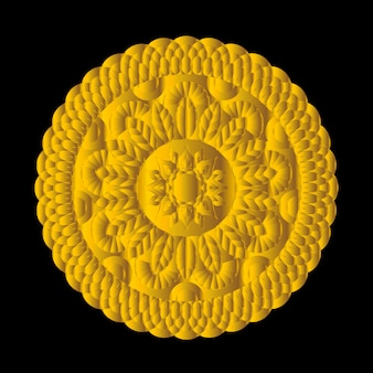 Mandala vecteur vintage élément de mandala rond très détaillées dessinées à la main