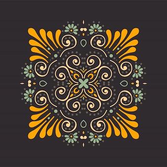 Mandala de vecteur