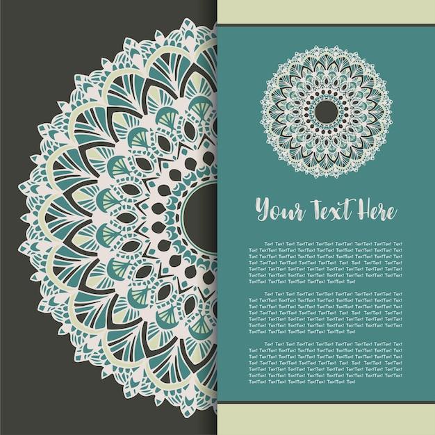 Mandala vintage carte de modèle