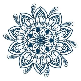 Mandala vintage éléments décoratifs oriental modèle vector illustration graphisme