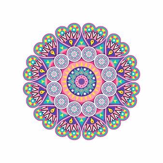 Mandalas fleuris éléments décoratifs vintage