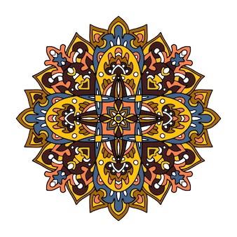 Mandalas de fleurs. éléments décoratifs vintage.