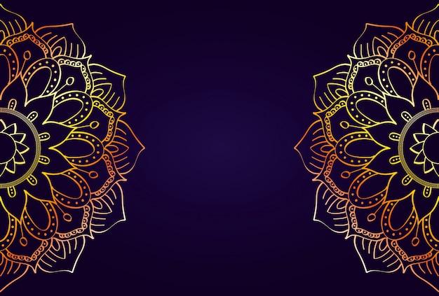 Mandalas halfs avec fond de couleur pourpre
