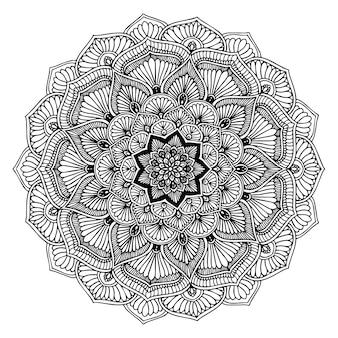 Mandalas livre à colorier, thérapie orientale, yoga logos vector.