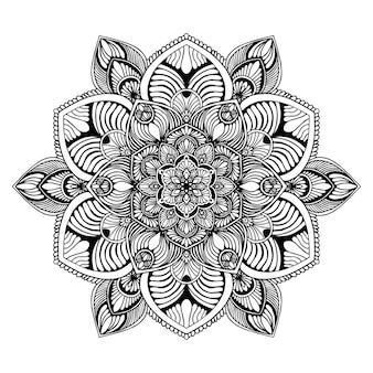 Mandalas pour cahier de coloriage. vecteur oriental, modèles de thérapie anti-stress. logos de yoga vec