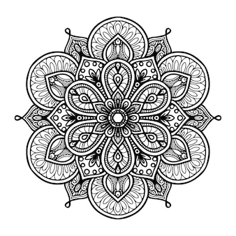 Mandalas rond pour cahier de coloriage. ornements ronds décoratifs.