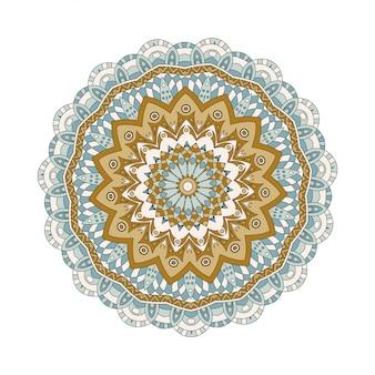 Mandalas ronds en vecteur. modèle graphique pour votre conception. ornement rétro décoratif. fond dessiné à la main avec des fleurs