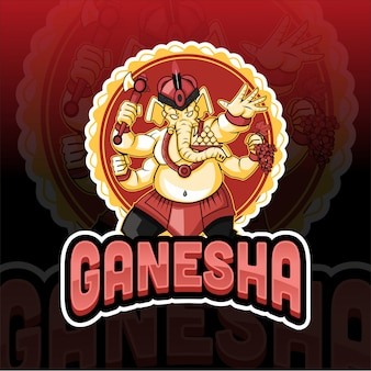 Manesque ganesha elephant esport logo