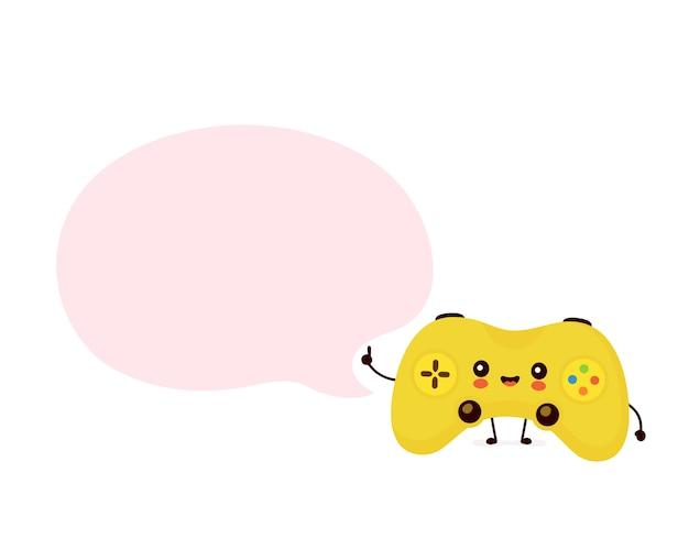 Manette de jeu avec bulle de dialogue