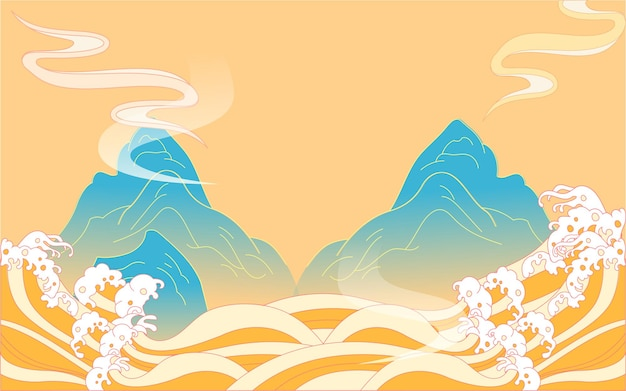 Manger des boulettes solstice d'hiver termes solaires festival de printemps nourriture marée nationale vent illustration
