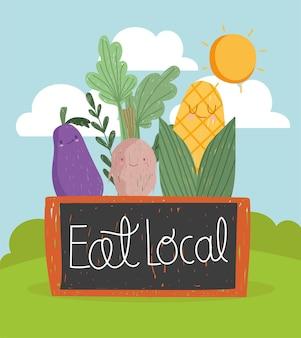 Mangez des légumes locaux mignons