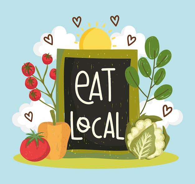 Mangez des légumes locaux