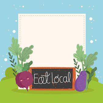 Mangez des légumes mignons locaux
