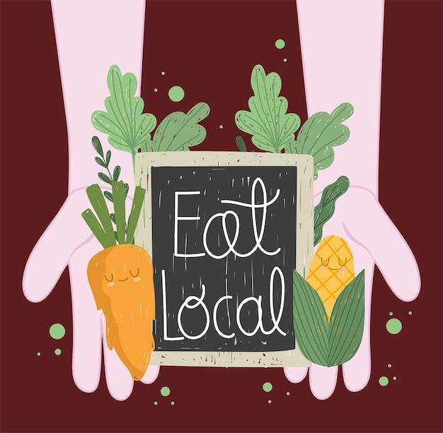 Mangez de la nourriture locale mignonne