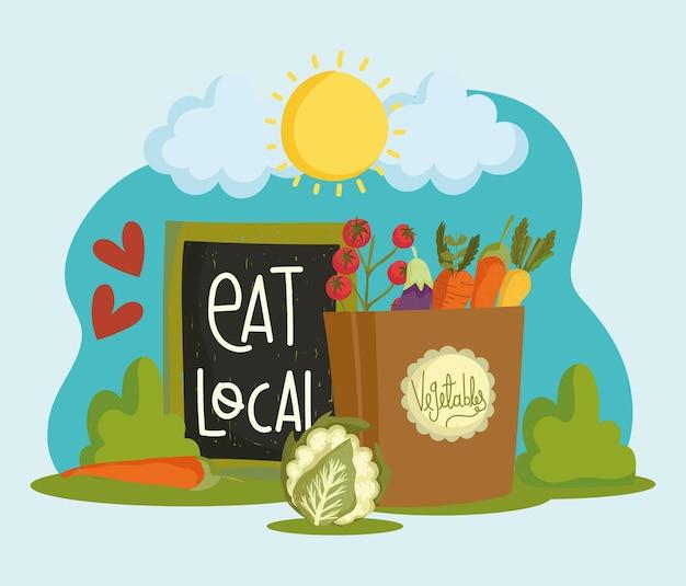 Mangez un sac d'épicerie local