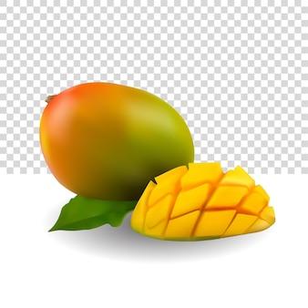 Mango illustrator 3d vecteur premium