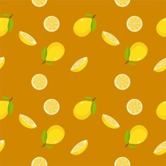 Mangue de fruits sans couture colorée