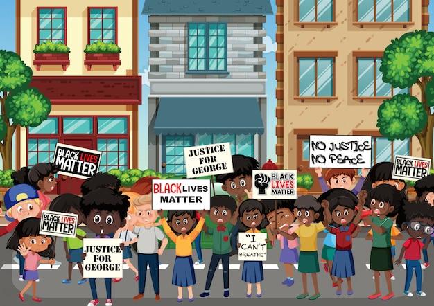 Des manifestants contre le racisme en colère dans la rue
