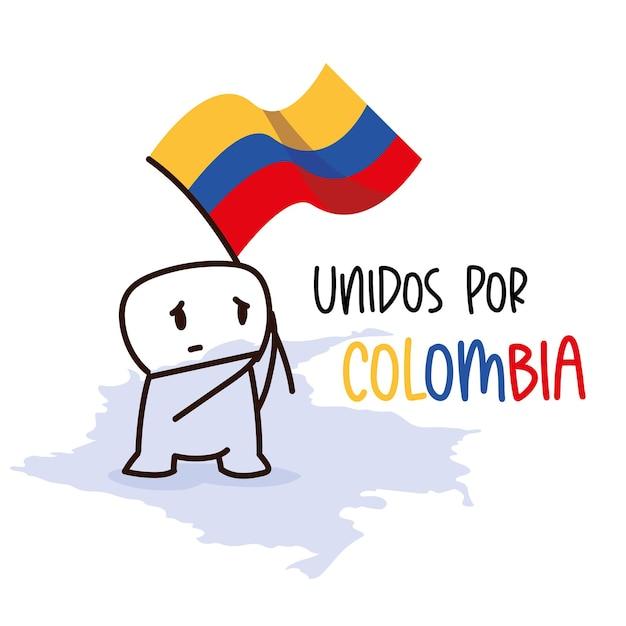 Manifestations d'unité en colombie