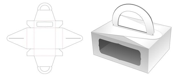 Manipuler la boîte de nourriture avec la conception de modèle de fenêtre découpée