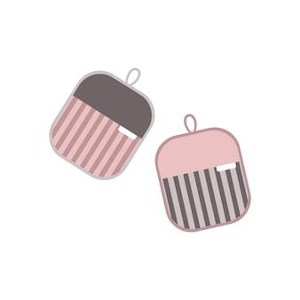 Manique avec un motif pour la protection contre la cuisson chaude. article de cuisine