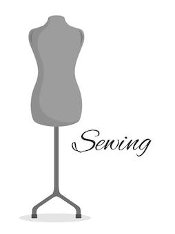 Mannequin couturier isolé icône design