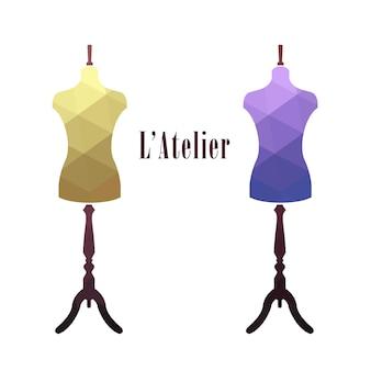 Mannequin de tailleur femme vintage