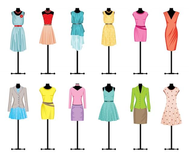 Mannequins avec des vêtements pour femmes