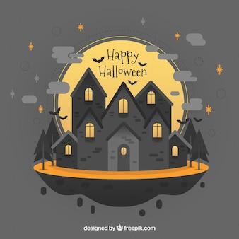 Manoir d'halloween avec un style charmant