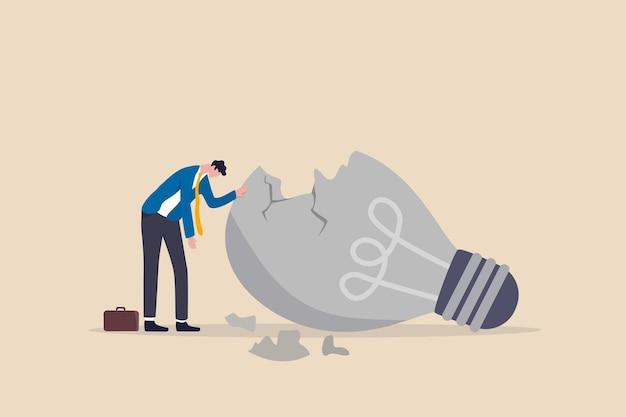 Manque d'inspiration ou de motivation après une faillite d'entreprise, un épuisement professionnel ou épuisé par une crise