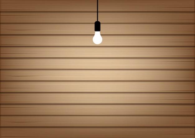 Maquette 3d réaliste en bois et lampe