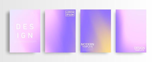 Maquette abstraite pastel coloré fond dégradé a4 concept pour votre graphique coloré, modèle de mise en page pour brochure