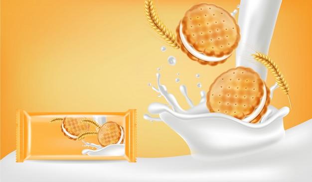 Maquette de biscuits à la vanille