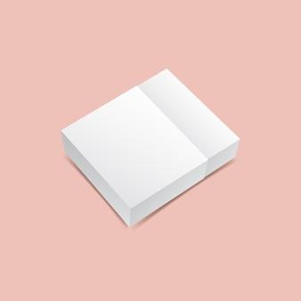 Maquette de boîte carrée coulissante