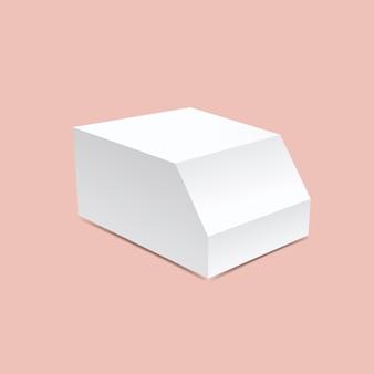 Une maquette de boîte chanfreinée