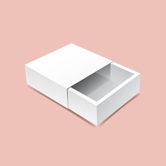 Maquette de boîte coulissante