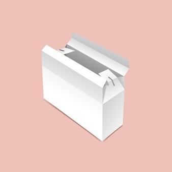 Maquette de boîte d'emballage flips