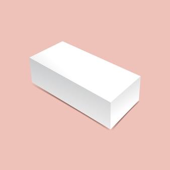 Maquette de boîte d'emballage longue