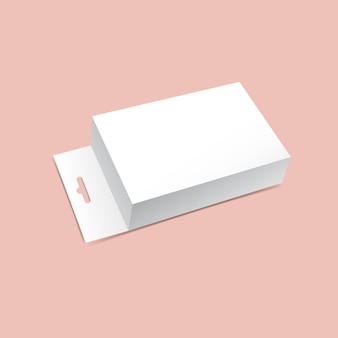 Maquette de boîte d'emballage suspendue