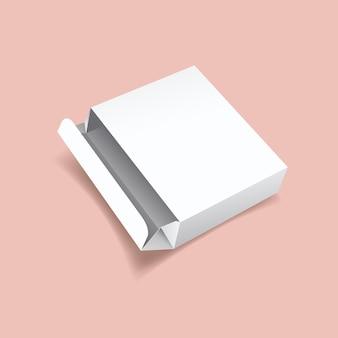 Maquette de boîte en fer blanc ouverte