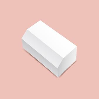 Maquette de boîte à grand angle