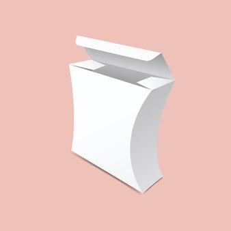 Maquette de boîte incurvée