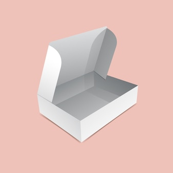 Maquette de boîte à rabat ouverte
