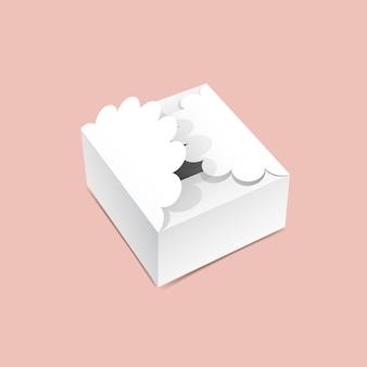 Maquette de boîte à rabat