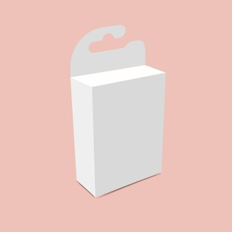 Maquette de boîte suspendue