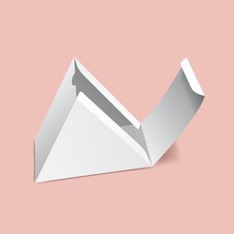 Maquette de boîte triangulaire rabattable