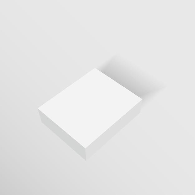 Maquette de boîtes d'emballage en carton blanc blanc.