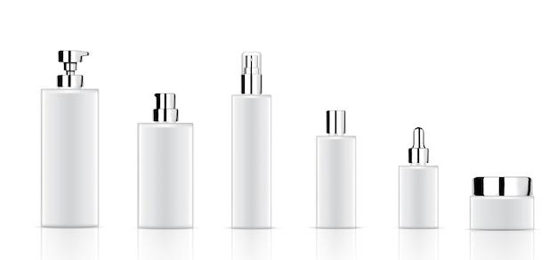 Maquette bouteille cosmétique blanche réaliste